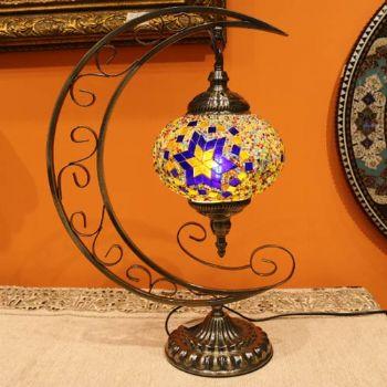 土耳其国旗造型台灯46*34CM伊朗彩色玻璃艺术灯