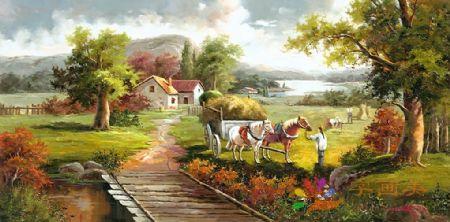 YF(7346)中式油画手绘油画欧式油画高喷油画装饰油画印象油画写实油画地中海风水油画