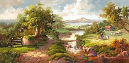 YF(7350)中式油画手绘油画欧式油画高喷油画装饰油画印象油画写实油画地中海风水油画