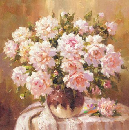 YJ(7535-004)中式油画手绘油画欧式油画高喷油画装饰油画印象油画写实油画地中海风水油画