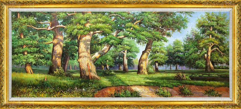 油画 俄罗斯森林