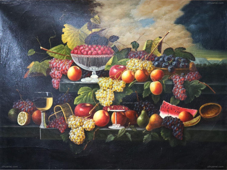 水果静物油画