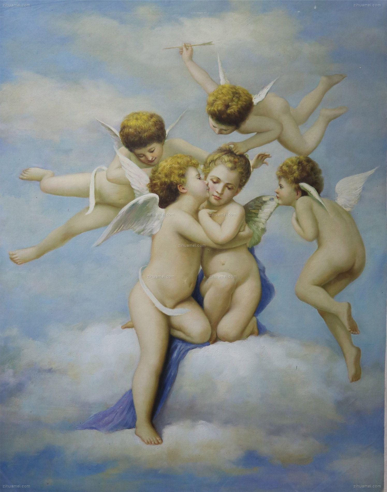 欧式经典油画 爱的天使 油画