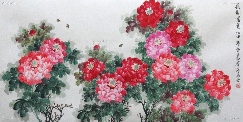 水墨国画 花开富贵