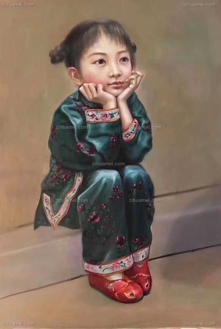 人物手绘油画