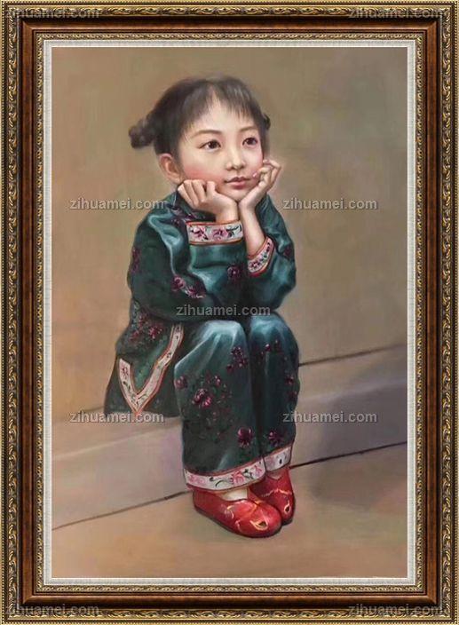 www.zihuamei.com油画人物油画