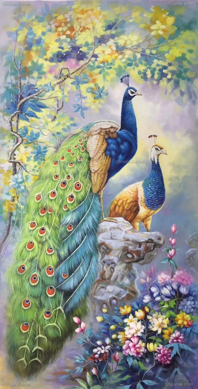 花鸟画手绘油画