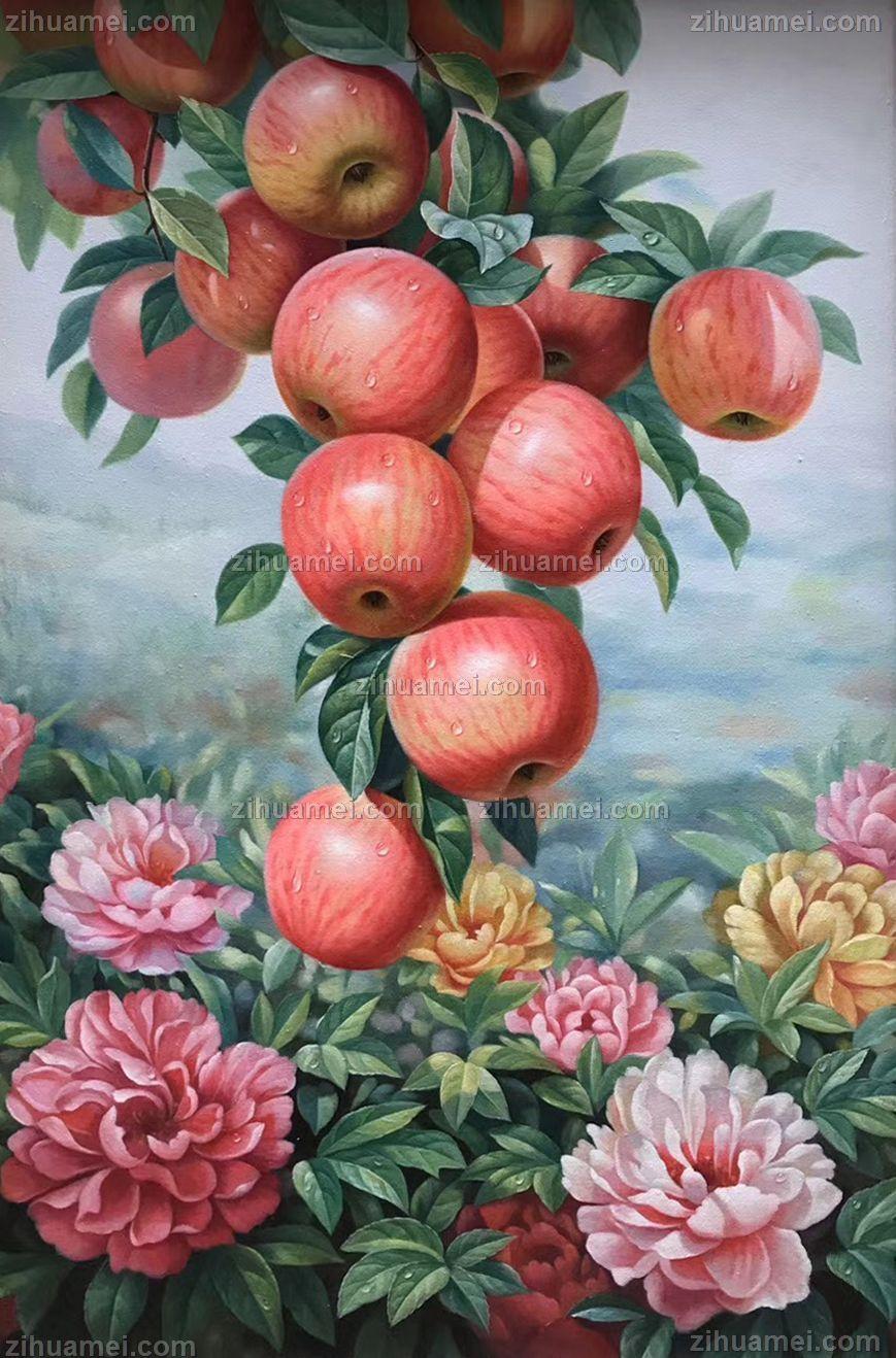 写实水果静物油画