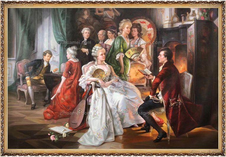 欧式人物油画贵族油画