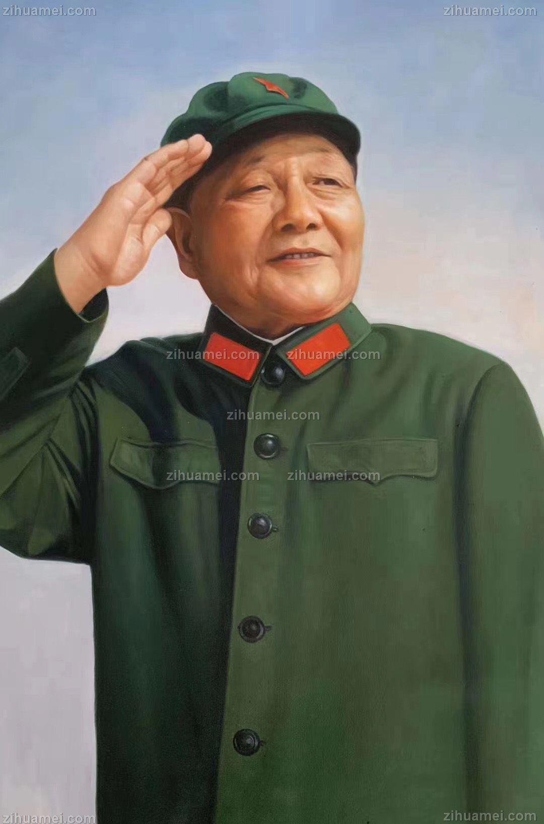精品油画总设计师邓小平