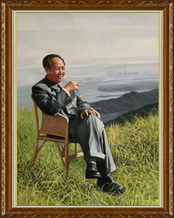 精品油画毛泽东同志人物肖像画