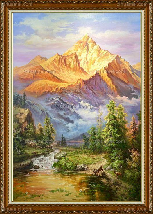 手绘油画风景画
