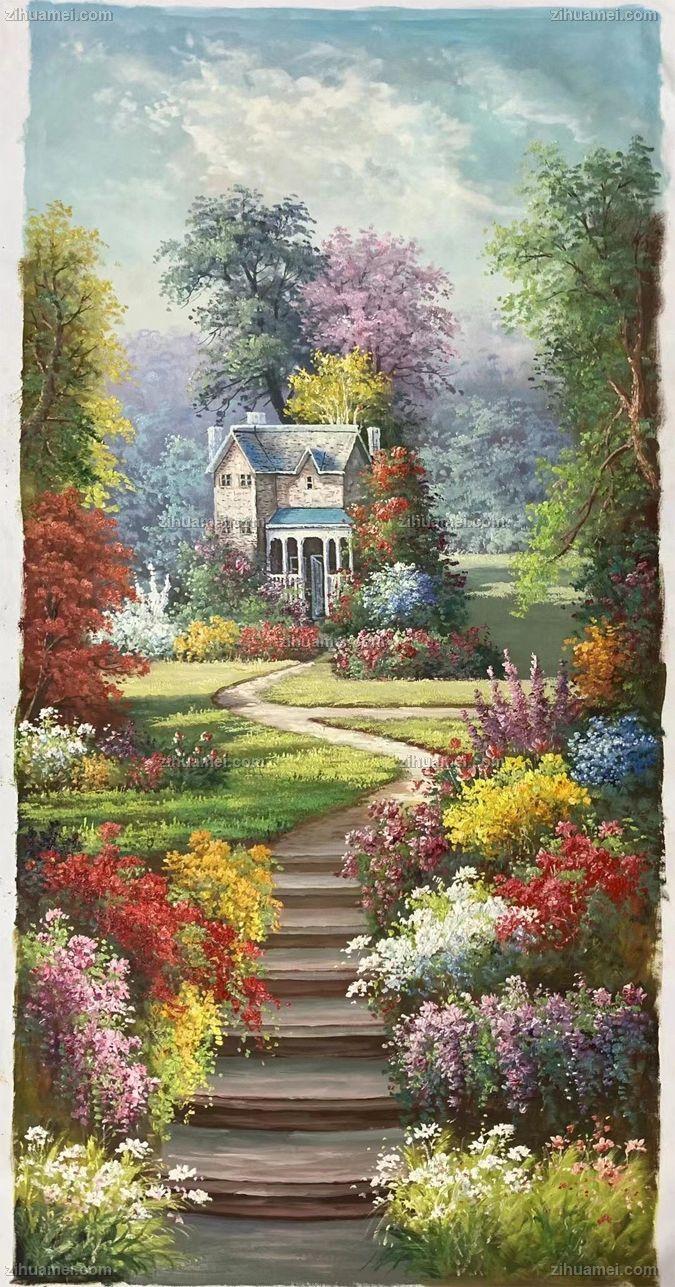 欧式托马斯油画写意手绘风景油画