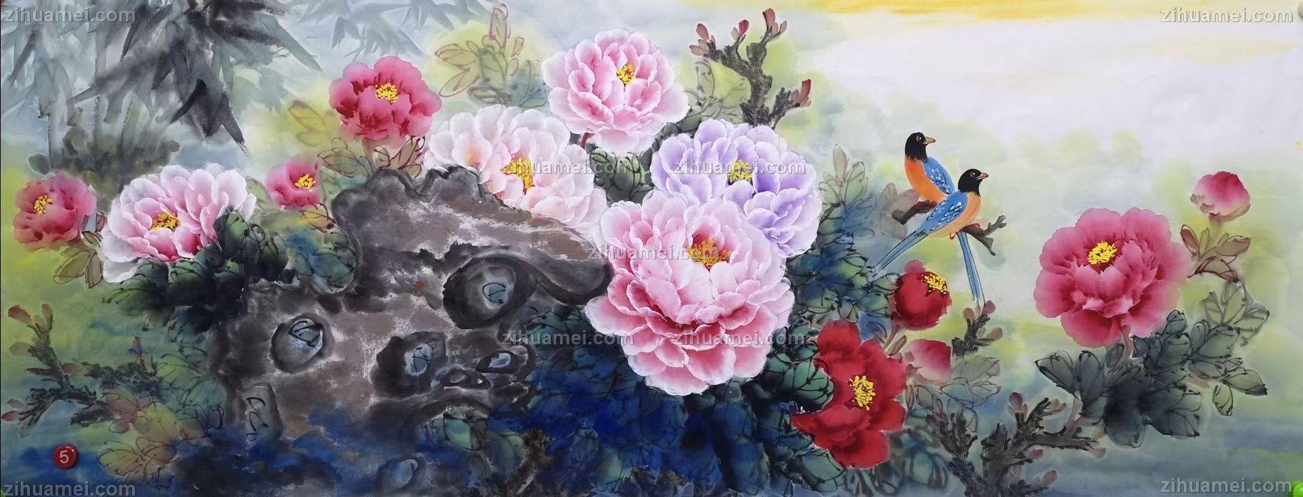 牡丹图片花鸟国画