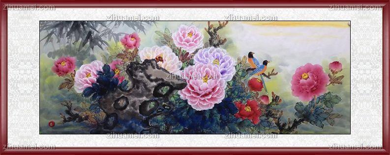 写意国画牡丹图片