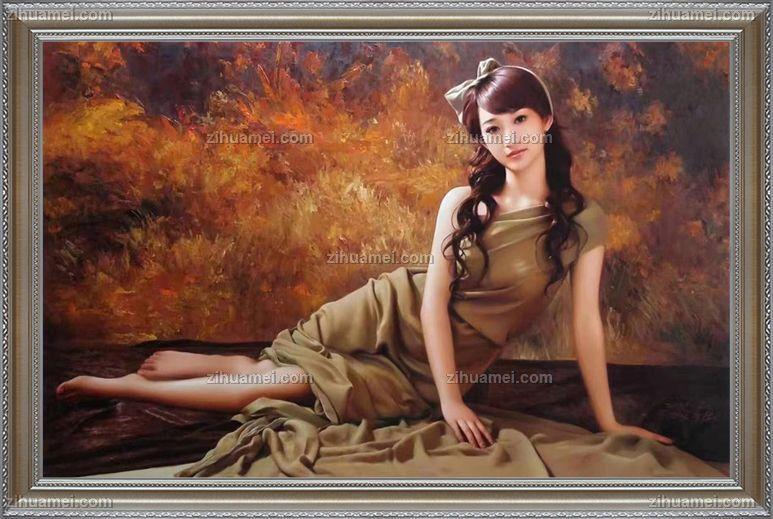 美女人物油画