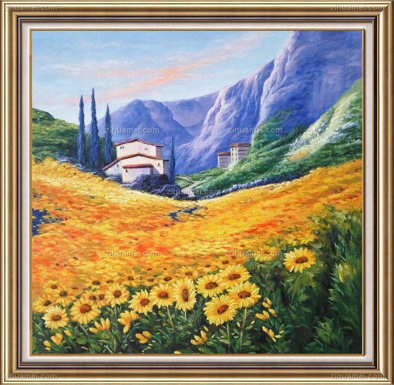 风景油画 美式油画 大自然的美 家庭挂画 酒店挂画 办公室挂画