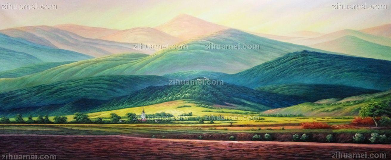 风景油画 中式油画 家庭挂画 酒店挂画 办公室挂画