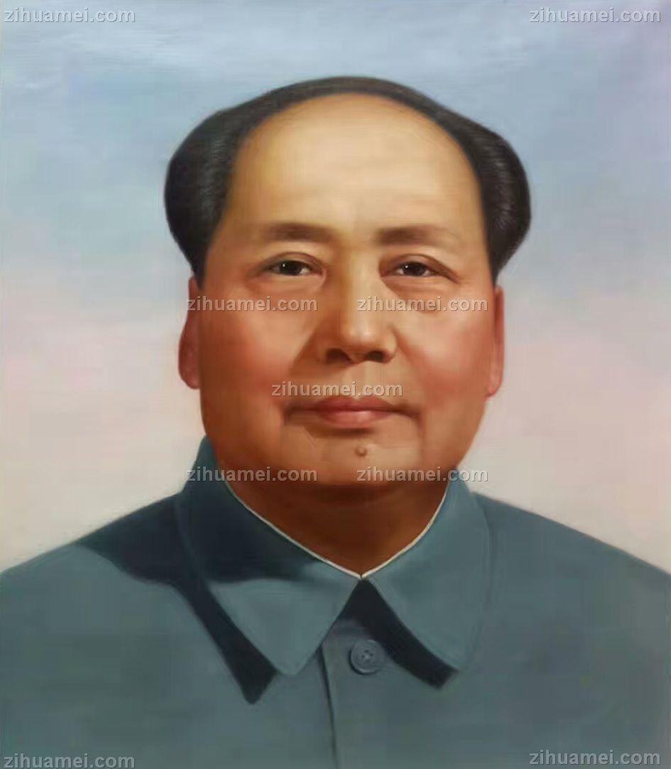 人物肖像油画 国家主席 毛泽东