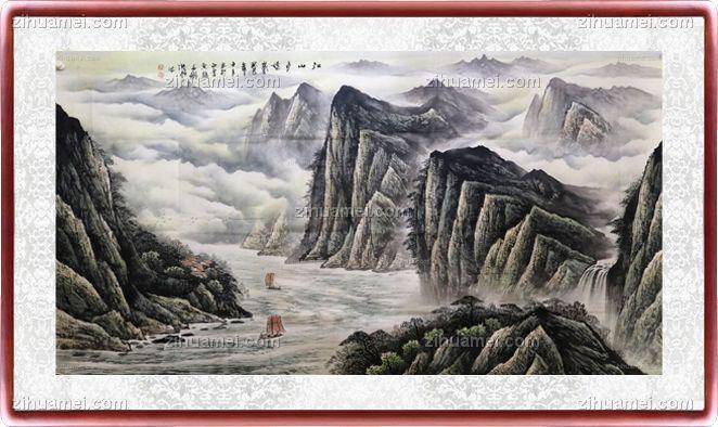 江山多娇 纯手绘手工 国画