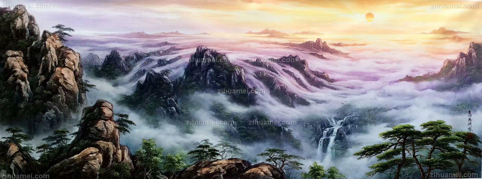 山水油画 中式油画