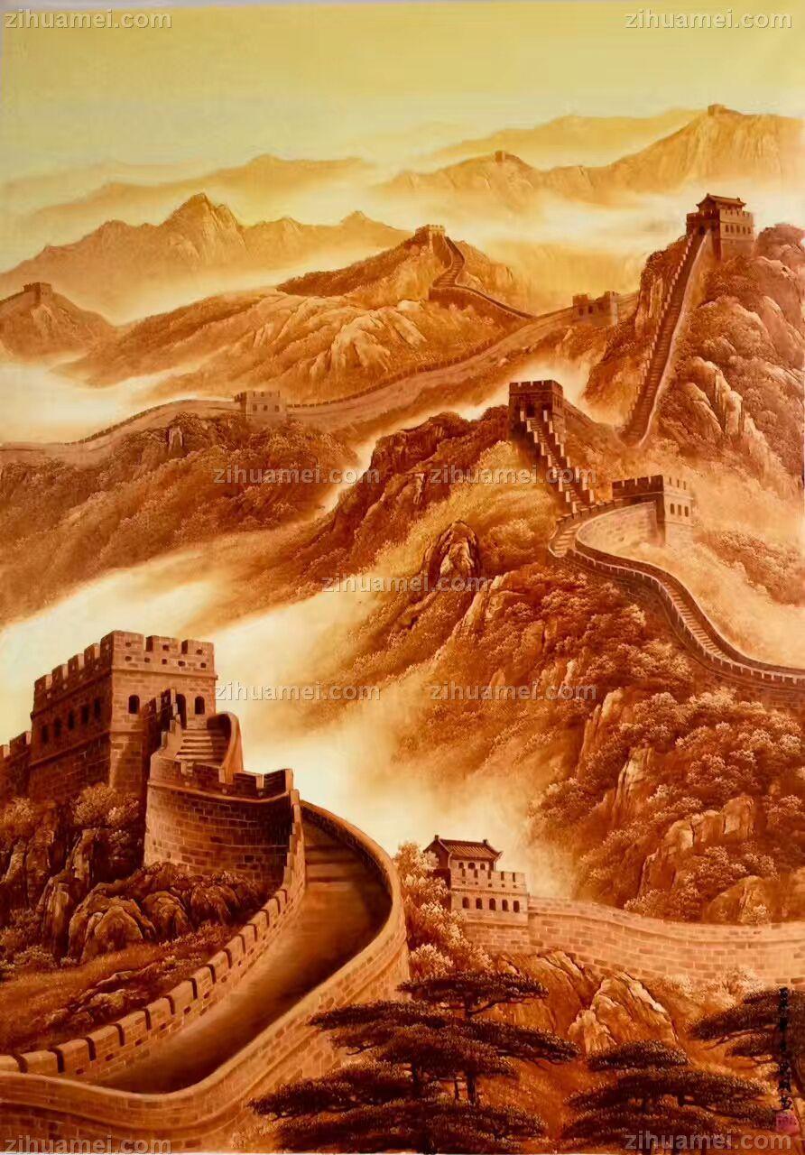 中式油画 万里长城