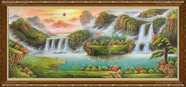 聚宝盆油画纯手绘