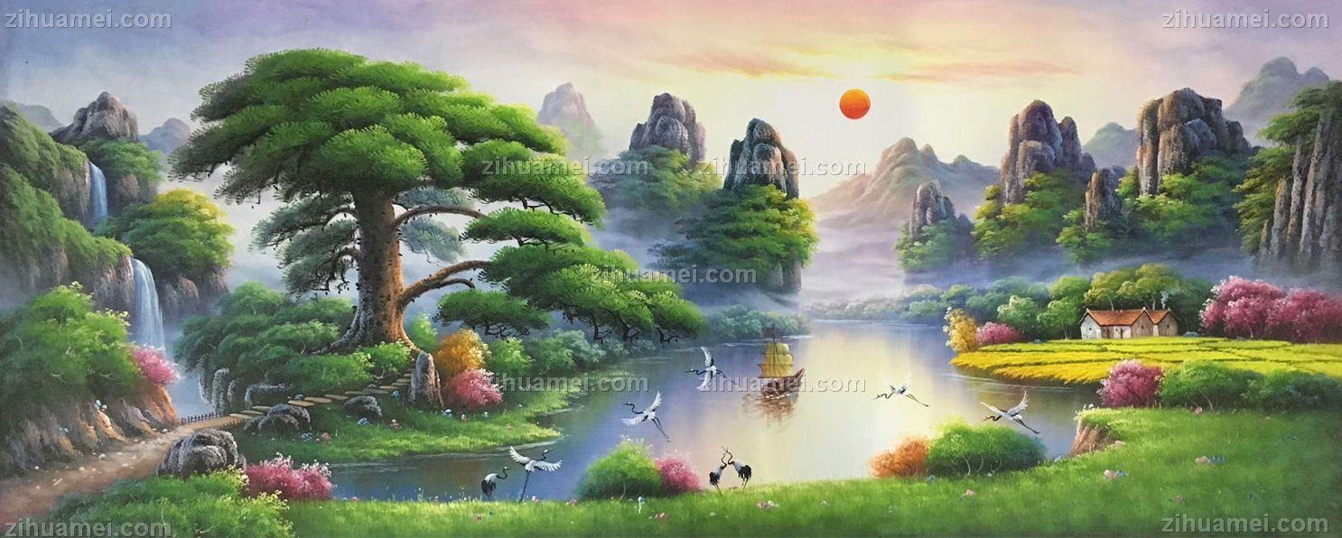 山水风景客厅装饰画