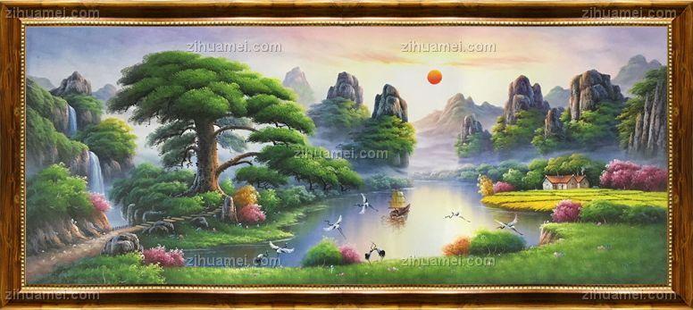 聚宝盆油画