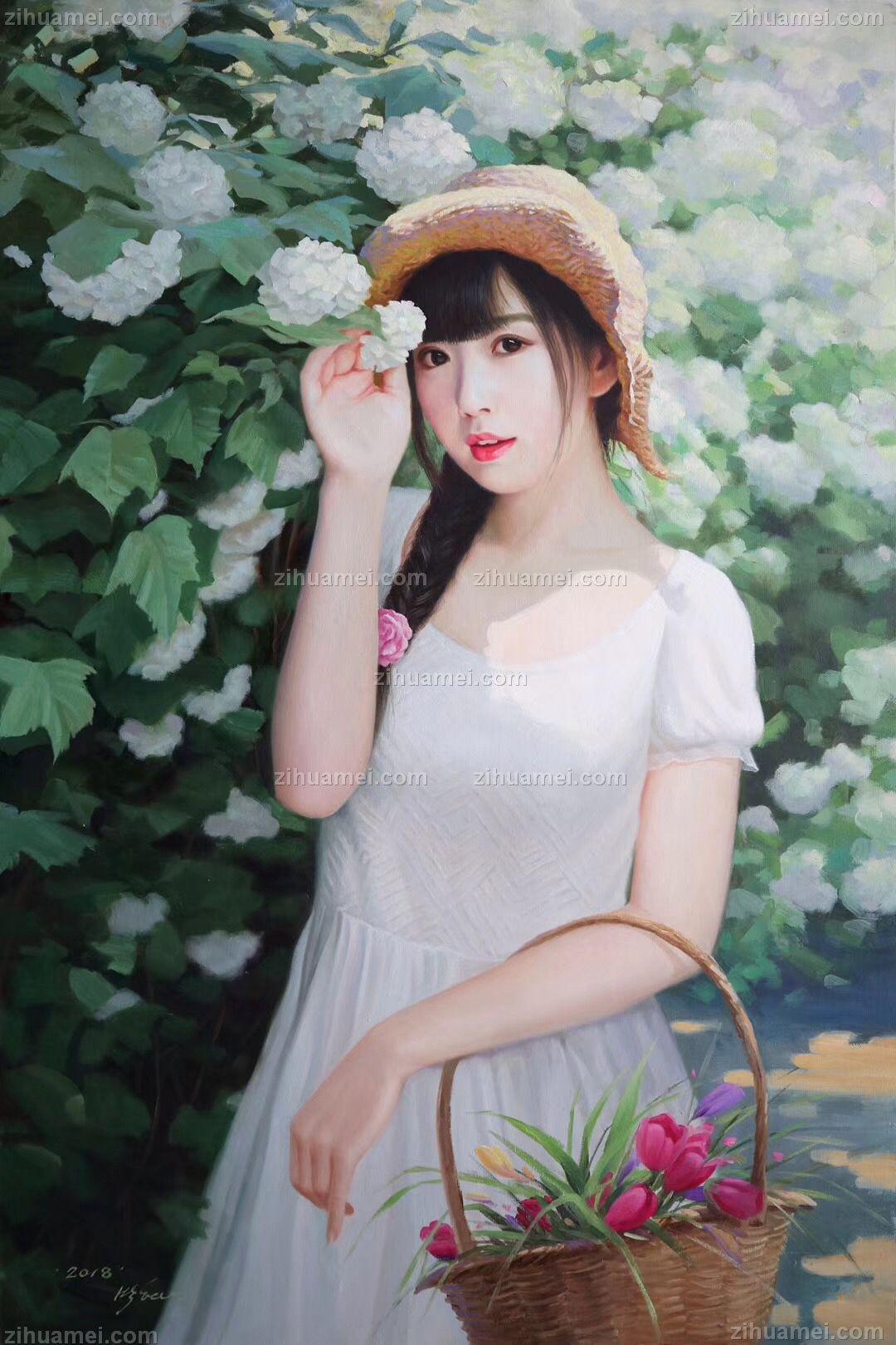 人物油画 美女油画 朝鲜油画