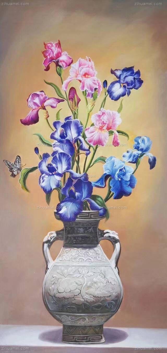 古典手绘油画 花卉