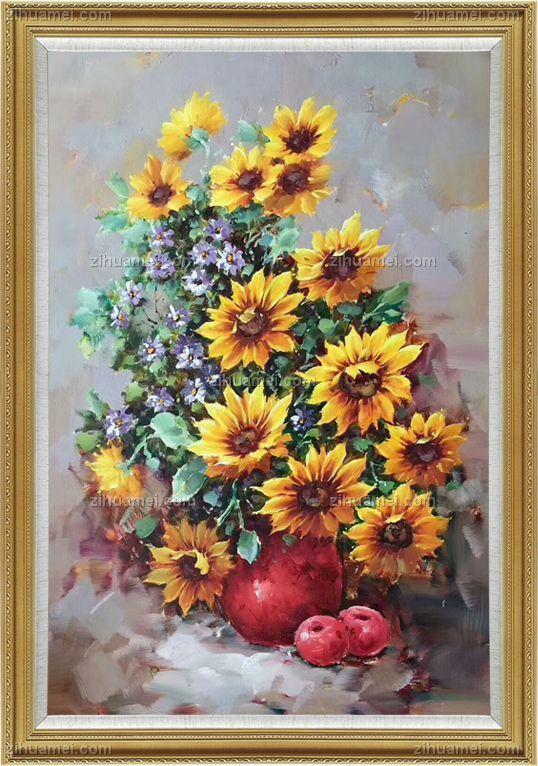 写生花卉花瓶