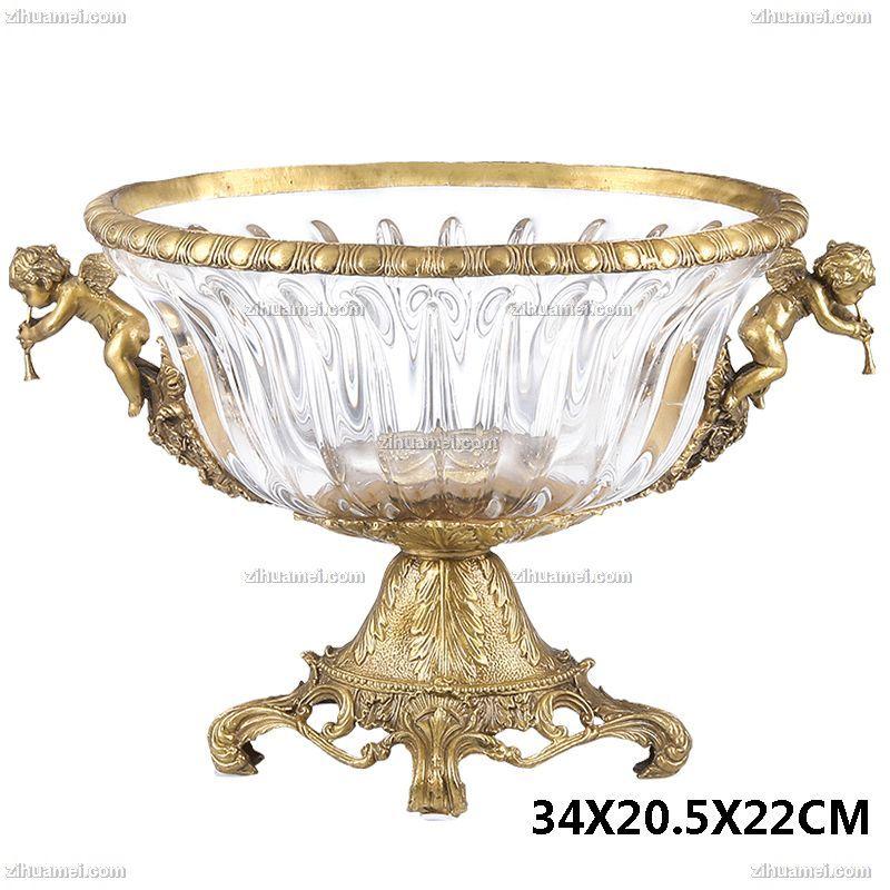 铜水晶摆件