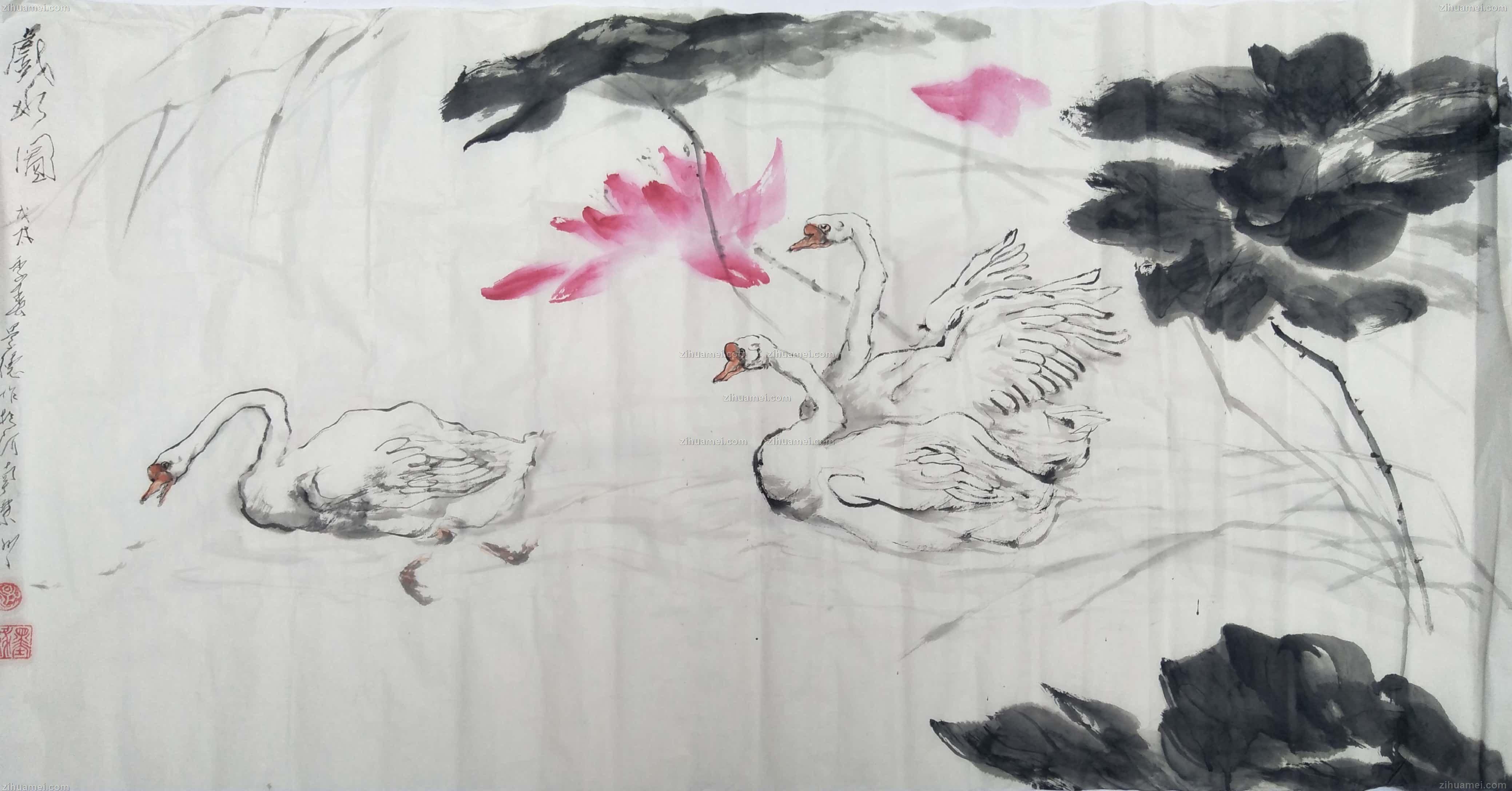写意国画动物画花鸟画