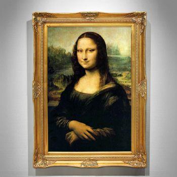 欧式手绘油画达芬奇蒙娜丽莎的微笑名画定制客厅挂画玄关装饰画收藏油画