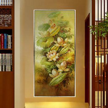 纯手绘手工 原创油画 一堂和气 线条框A客厅墙挂什么画