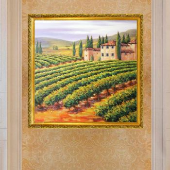 Pure hand-painted hand-painted landscape oil painting American oil painting is very beautiful family hanging painting Hotel hanging painting office hanging painting客厅挂梅花画风水好吗