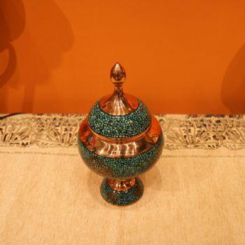铜胎画珐琅价格_伊朗蓝松石糖罐25CM伊朗传统铜胎珐琅工艺蓝松石是大海和蓝天的 ...