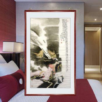 霸王别姬,张惠斌的关门弟子温素洁原创手绘,支持作品与画家合影视频百分百真迹 人物画国画温素洁原创手绘