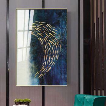 晶瓷画BU-3260玄关装饰画客厅装饰画现代简约挂画走廊过道轻奢壁画抽象晶瓷画装饰画