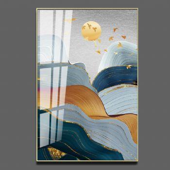Crystal porcelain painting bu-3267 porch decoration painting living room decoration painting modern simple hanging painting corridor corridor light luxury mural Abstract晶瓷画装饰画