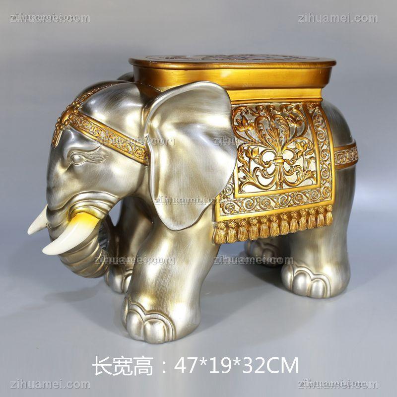 小象凳子系列雕塑摆件