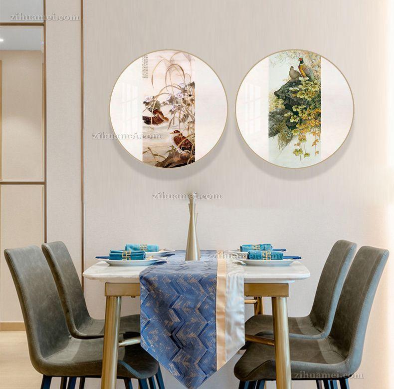 餐厅挂画双联画
