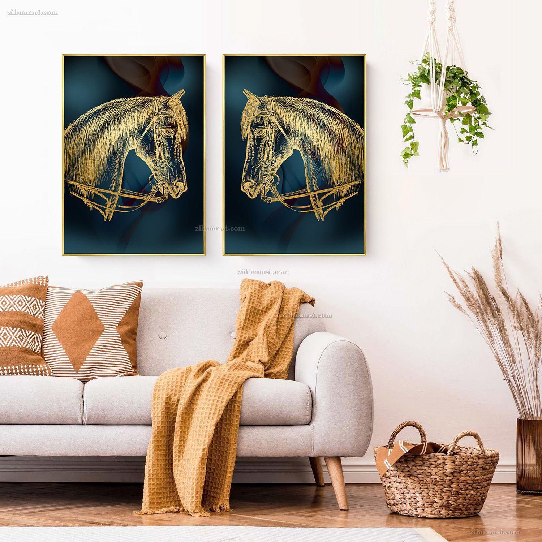 马头艺术装饰画