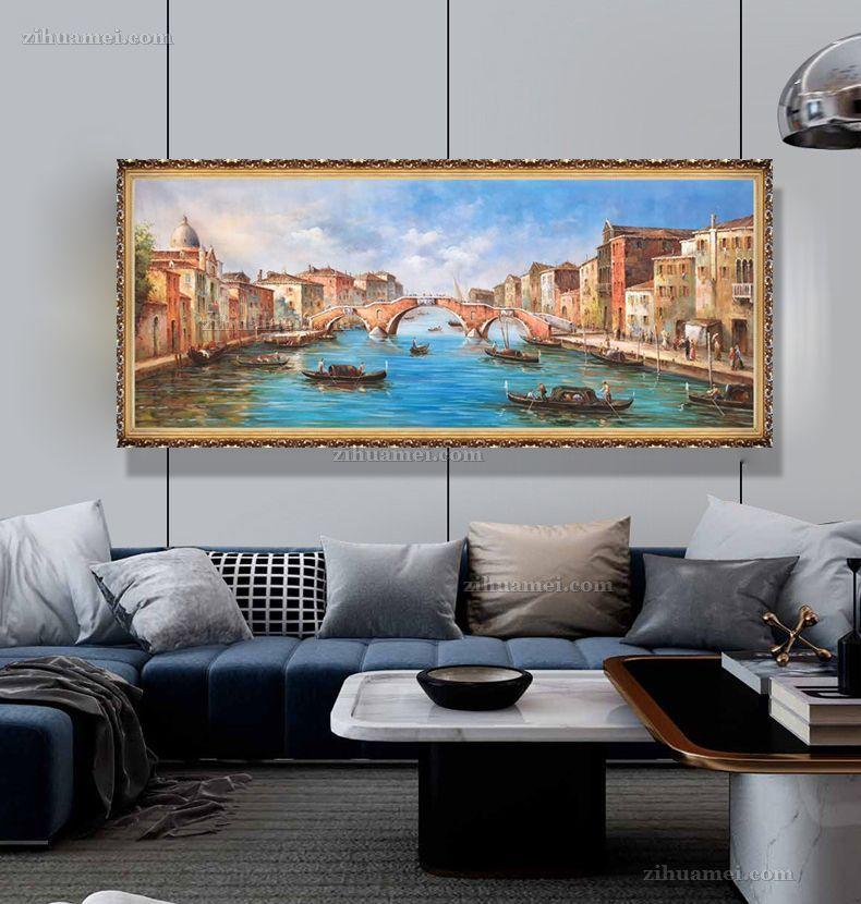 手绘威尼斯风景油画