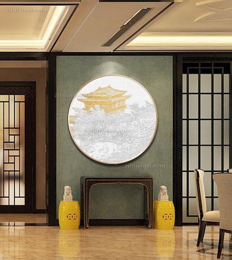 大厅浮雕立体挂画