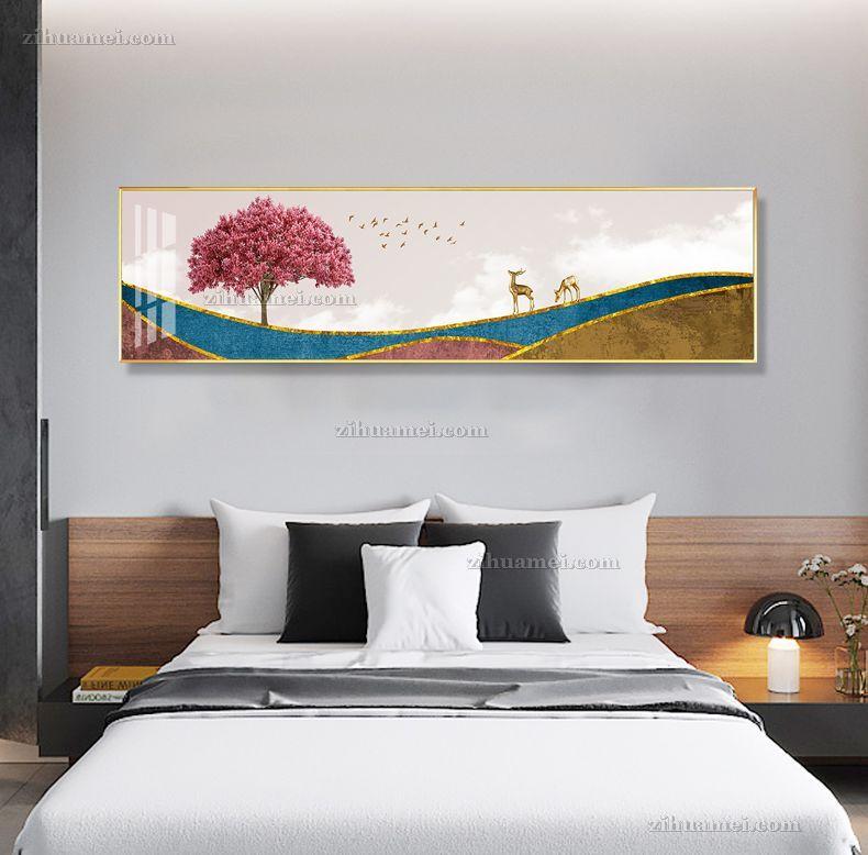 现代卧室床头酒店装饰画