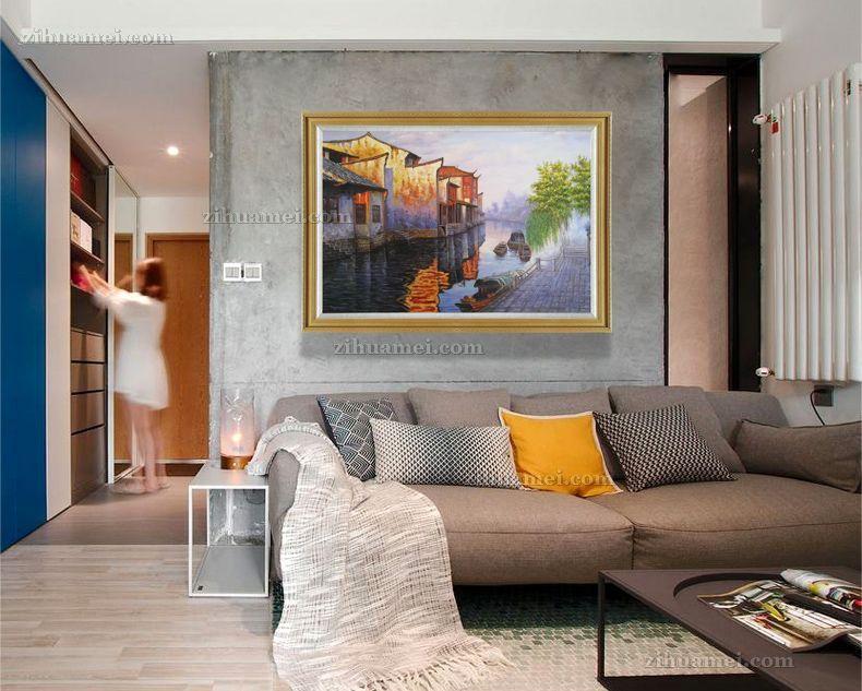 客厅挂画油画