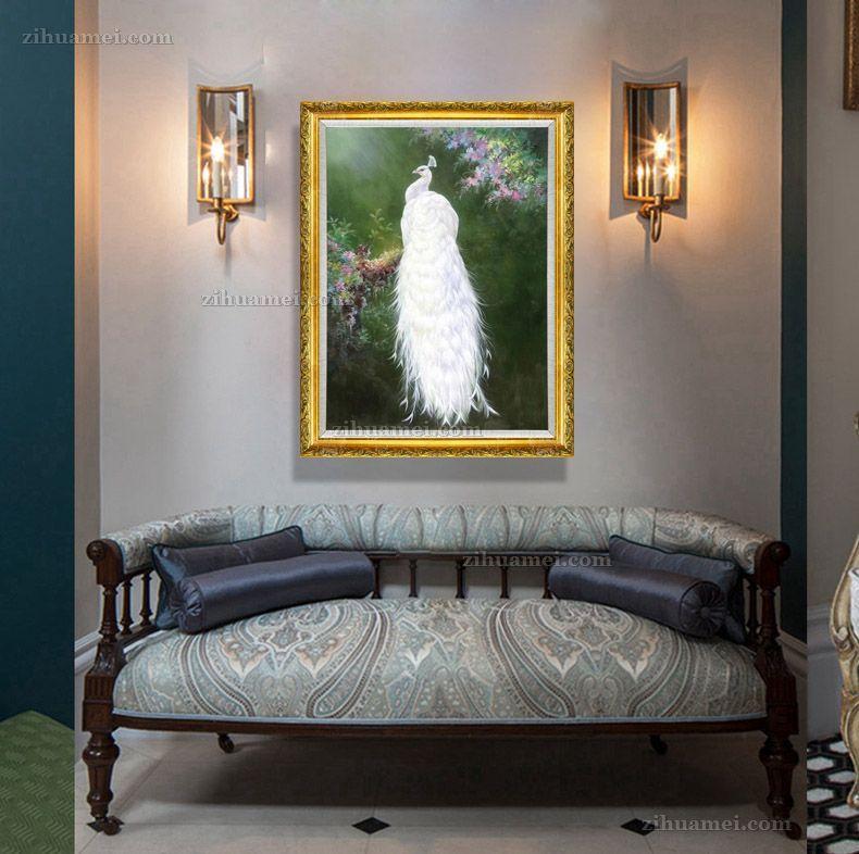 适合客厅卧室的动物油画