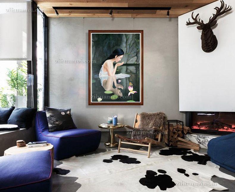 适合卧室的人物油画